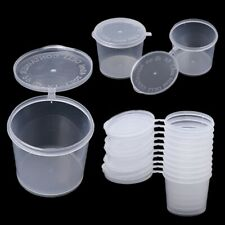 10PCS Disposable Clear Plastic Sauce Chutney Cup Food Container Storage Box