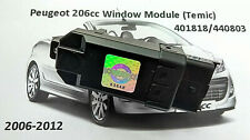 Peugeot 207CC Cabriolet window module Temic 440803 regulator relay all features.