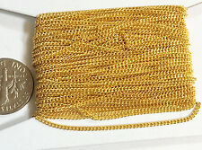 32ft spool of Gold Color Tiny Curb Chain 1.3mm