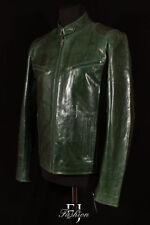 Abrigos y chaquetas de hombre verde de piel color principal verde