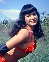 Nice Photo of 1950s Bettie Page. Pin Up Art Repro choose Canvas or Paper