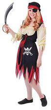 Pirate (Girl), Teen Costume, Halloween Fancy Dress, Size 2-6 #US