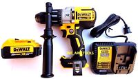 New DeWalt DCD996 20 Volt Brushless Hammer Drill, 1) DCB204 4.0 Battery, Charger