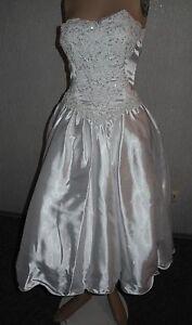 NEU Brautkleid Gr.38 MIRANDA vorne kurz/hinten lang+Handschuhe+Tasche*Standesamt