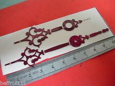 Aiguilles pendulette horloge ancienne,pendule Uhr clock aiguille 100 X 68 mm A