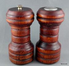Baribocraft Salt & Pepper Grinder 5in Mill Maple Wood Teak Stain c1970s Canada