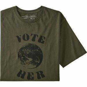 T-shirt uomo Patagonia Men's Vote Her Organic - col.Basin Green