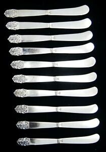 Lot Of 10 International Silver NORTHERN LIGHTS BURNISHED Butter Spreaders 6""
