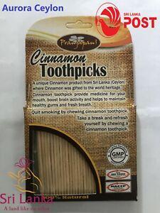 1X 100# Ceylon Natural Cinnamon Toothpicks 100 pcs Sri Lanka New ayurvedic stick