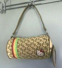 Sanrio HELLO KITTY Shoulder Bag Handbag HK Barrel Duffel Brown Patent
