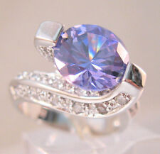 Designer Signed RP 2.75ct Tanzanite & .81ct CZ Ring Sterling Silver Size 5