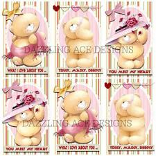 12 LUVABLE LULLABY TEDS SET 3  Toppers, Embellishments, Card Making, Crafting