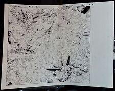 EXTREME DESTROYER: EPILOGUE PAGES 2 & 3 1996 ORIGINAL ART SPLASH-MOTA & ALQUIZA