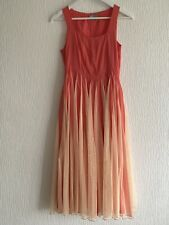 CORAL PEACH NET DRESS ASOS 6 SUMMER HOLIDAY BOHO IBIZA GLAM PARTY CELEB PRETTY