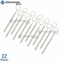 12 Dental Mirrors Stainless steel Surgical Instruments