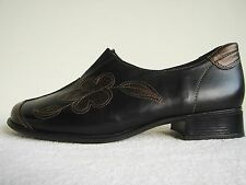 Remonte Black & Bronze Leather Low Heel Walking Shoe Size EU43 UK 9 German G Fit
