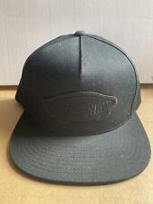 VANS CLASSIC PATCH SNAPBACK CAP HAT BLACK ON BLACK RRP £23**NEW FREE P&P**