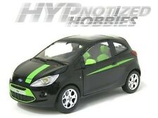 MOTOR MAX 1:24 FORD KA WITH GREEN STRIPES DIE-CAST BLACK/GREEN 73382