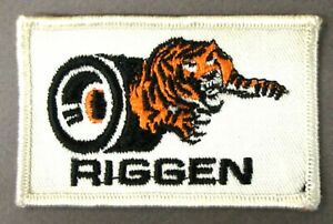 rare 1960's - 1970's RIGGEN Tires slot car racing embroidered shirt jacket patch