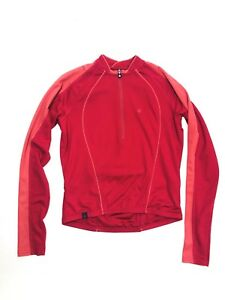 Pearl Izumi Womens Full Zip Long Sleeve Cycling Jacket Red Polyester Size XS