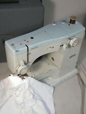 Vintage Elna Elnasuper Super 62C Sewing Machine in Case with Foot Pedal - Tested