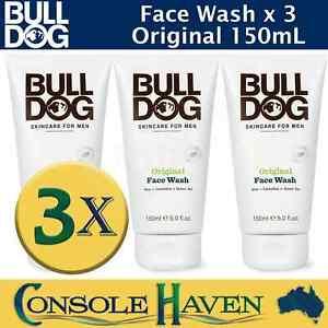 Bulldog Face Wash: Original 150mL x 3 / Bull Dog w/ Aloe Camelina Green Tea Mens