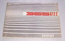 ORIGINAL CATALOGUE FERRARI 365 gt2+2 1969 - 1970 catalogue de pièces de rechange!