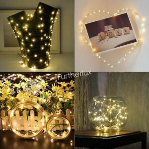 10 Pack 200 LED Battery Fairy String Micro Rice Wire Copper Lights Party Decor