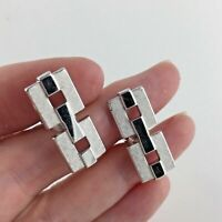 Swank Chain Link Cuff Links Silver Tone Shirt Vintage Wedding Man Gift