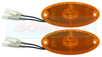 2 x JOKON SMLR2012 12V AMBER OVAL LED SIDE MARKER LAMPS LIGHTS CARAVAN MOTORHOME