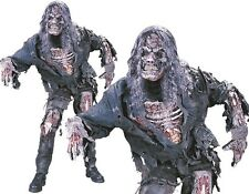 Halloween Mens Zombie Fancy Dress Costume, Mask & Gloves with Sewn in Body Parts