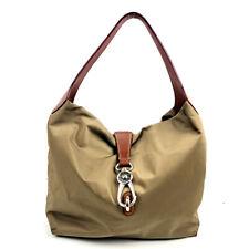 Dooney & Bourke Hobo Tan Shoulder Bag Satchel Purse Carabiner Clasp Closure