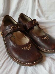 El Naturalista Women Shoe US Size 7  Eur Size 37 Brown Mary Jane Flat Earthy