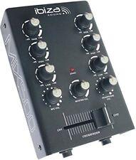 Ibiza Mix500 mesa de mezclas mezcladora 2 canales ecualizador 2 bandas negro