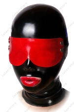 468 Latex Rubber Gummi Mask Hood goggles eyes covering customized costume 0.7mm
