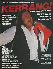 KERRANG! #10 FEB 1982: MEATLOAF Iron Maiden KROKUS Sammy Hagar AC/DC Whitesnake