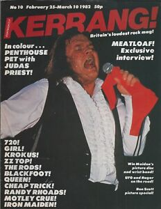 KERRANG! #10 FEB 1982: MEATLOAF Iron Maiden KROKUS Sammy Hagar AC/DC Whitesnake