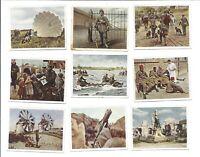 9 Eckstein Halpaus German 1930's Tobacco Cards Die deutsche Wehrmacht Movie WWI