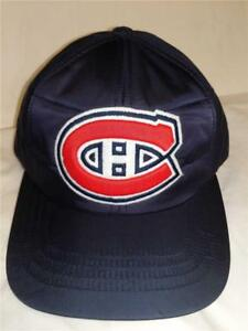 New Montreal Canadians Mens Size OSFA Blue Vintage Hat