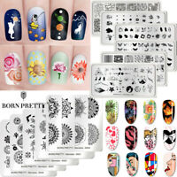 BORN PRETTY Nail Stamping Plates Nail Art Stamp Template Nails Decoration Tools