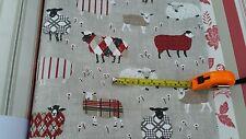 ROMAN BLIND MTM ILIV BAA BAA SHEEP RED BROWN BEIGE GREY WHITE BLACKOUT LINED