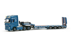 Mercedes Actros2 GigaSpace 6x4 w/ 3-Axle Low Loader - Sarens IMC 1:50 Scale New!