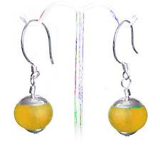 Earrings | round 14m Golden | Merzies* Usa | Artisan Sterling Silver & Sea Glass