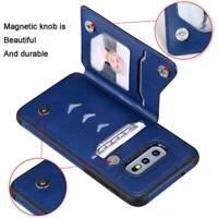 Zipper Leather Card Slot Holder Skin Phone Back Cover Case  For  Samsung S9 S10
