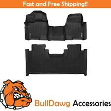 SMARTLINER Floor Mats for 2015-2019 F-150 SuperCab With Front Bench Seat Black