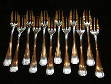 Fourchettes à Gâteau Christofle América en Argent Plaqué Silver Silber 16 cm N°2