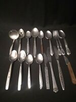 Lot Of Vintage Silverware 23 Pieces Various Makers Stainless Americana Insico