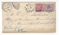 1896 Sale Victoria Australia, 1/2d, 2d to Washington DC, Deficiency in Address