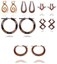 WHOLESALE LOT of Wooden Nepali Handmade Tribal Wood Stick Earrings WHOL31