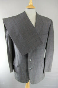 VINTAGE BESPOKE TAILORED HECTOR POWE CHECKED SUIT: CHEST 38 INCH/WAIST 34 INCH